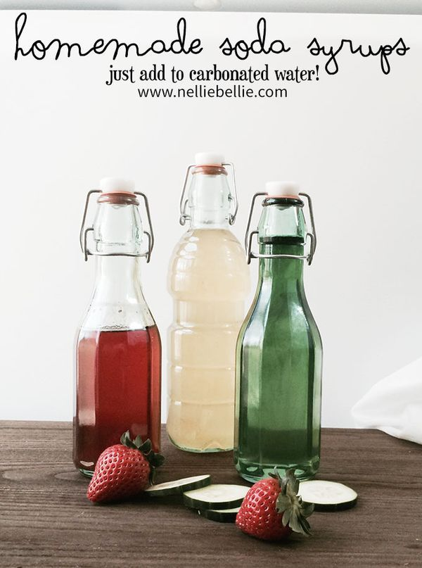 soda syrup recipe and tutorial from nelliebellie.com. these are easy to make and so much better for you!