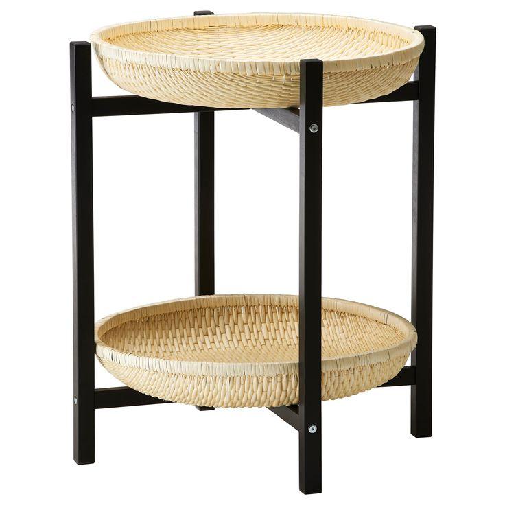 po ng footstool black brown isunda gray the stand. Black Bedroom Furniture Sets. Home Design Ideas