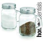 Salt and Pepper Mason Jar Shakers!  http://thetrendykitchen.com/item_699/Salt-Pepper-Shakers--Mason-5oz-Set-of-2.htm