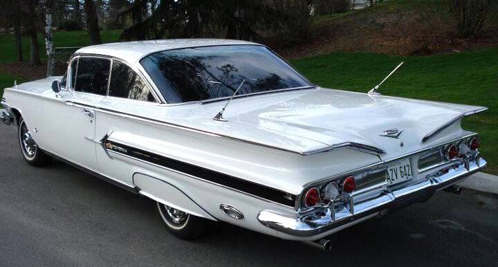White 1960 Chevy Impala 2-Door Hardtop 283 - Aucton Results: $37,000