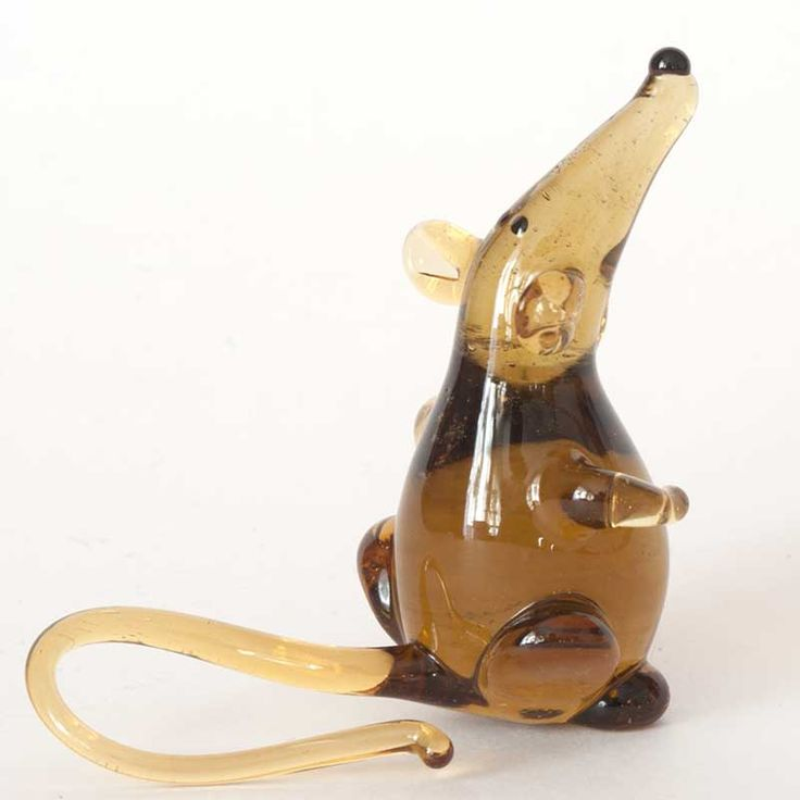 New Products. GlassBrown Rat Figurine is hand made in technique of lampworking of color ... http://russian-crafts.com/glass-figurines/glass-animals/glass-brown-rat.html