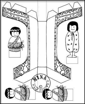 Maori Printables: Waka Paper Toy to Colour