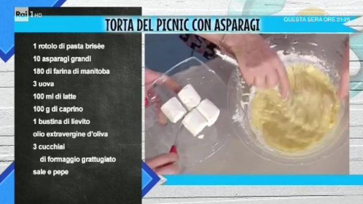 La prova del cuoco | Ricetta torta del picnic con asparagi di Anna Moroni