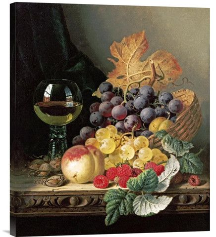A Basket of Grapes, Raspberries | Explosion Luck | Feng Shui Paintings & Buddhist Art