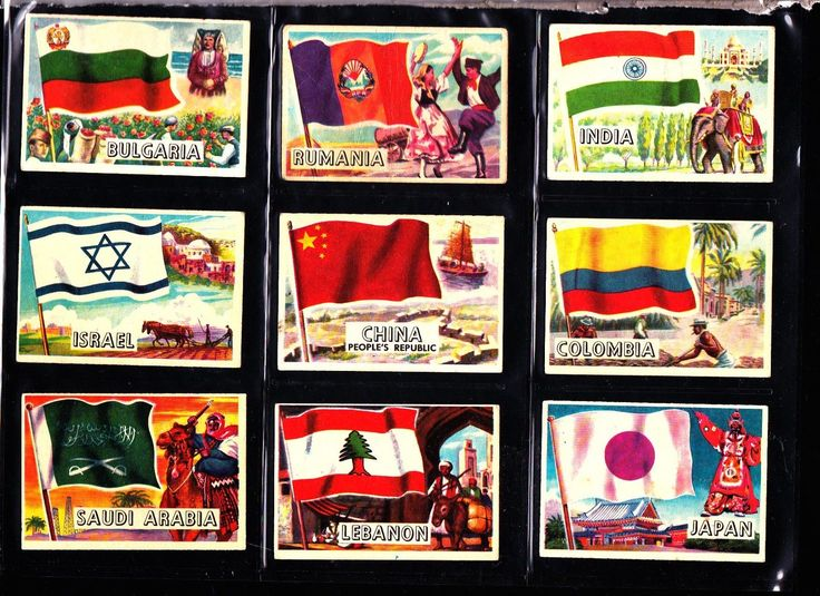 Flags Of the World A&BC Gum 1963 Small version size Full Set of 80 cards   eBay