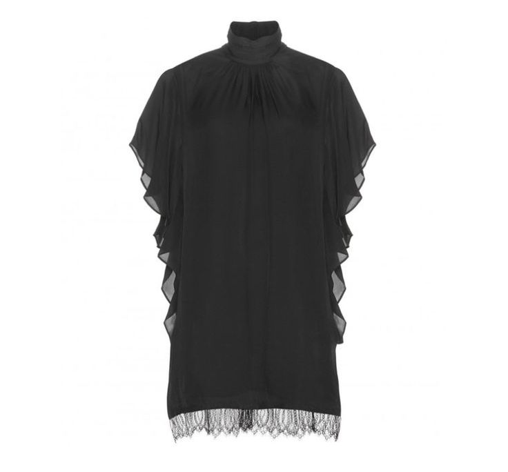 Check out this product: Lace-trimmed Silk Dress #villoid
