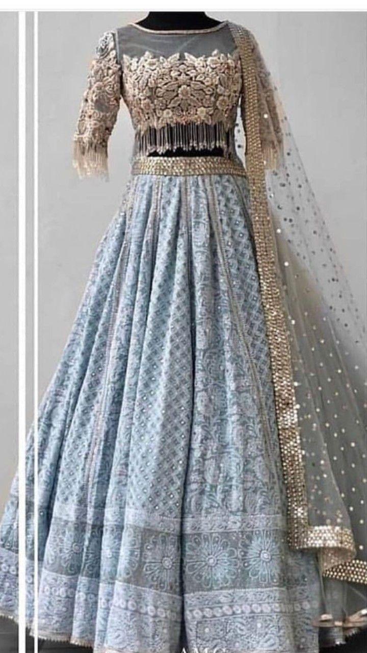 32ea62e7d2 Beautiful Chikankari Lehenga-Choli with beautiful hand embroidered blouse.