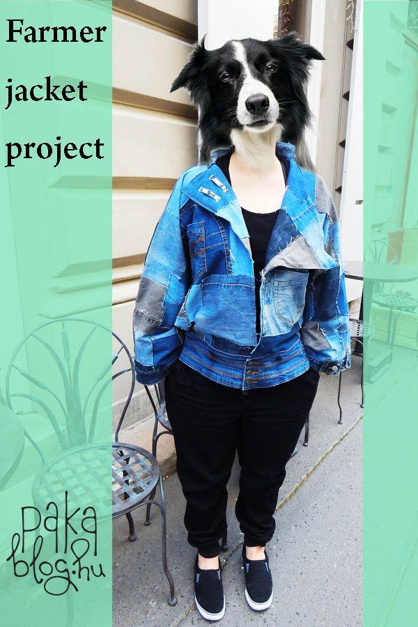 jeans jacket diy patchwork