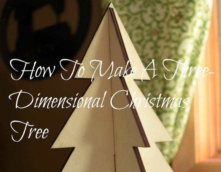 How to make three dimensional wooden Christmas Tree in three easy steps or simply go to Target and shop the dollar section