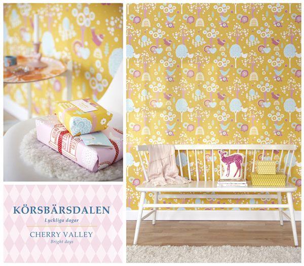 Körsbärsdalen gul