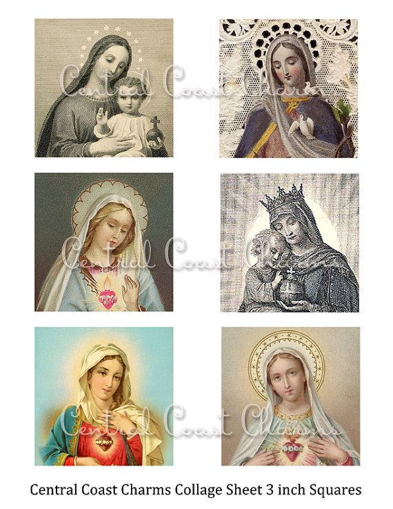 Vintage Religious Images Altered Art by CentralCoastCharms on Etsy