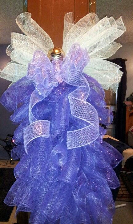 Deco Mesh Angel Swag Meishas Creations Pinterest