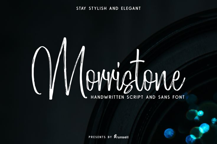 Morristone is a complementary font duo; with a signature look and natural flow, this combination can make your design look authentic and handcrafted given its textured brush look and high impact style.