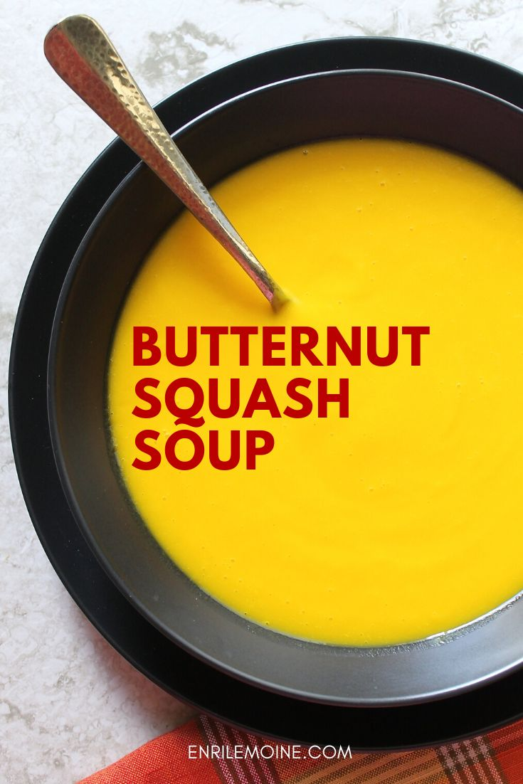 The silkiest butternut squash soup, this can be made all year round and it's perfect during the fall season. Click for t…
