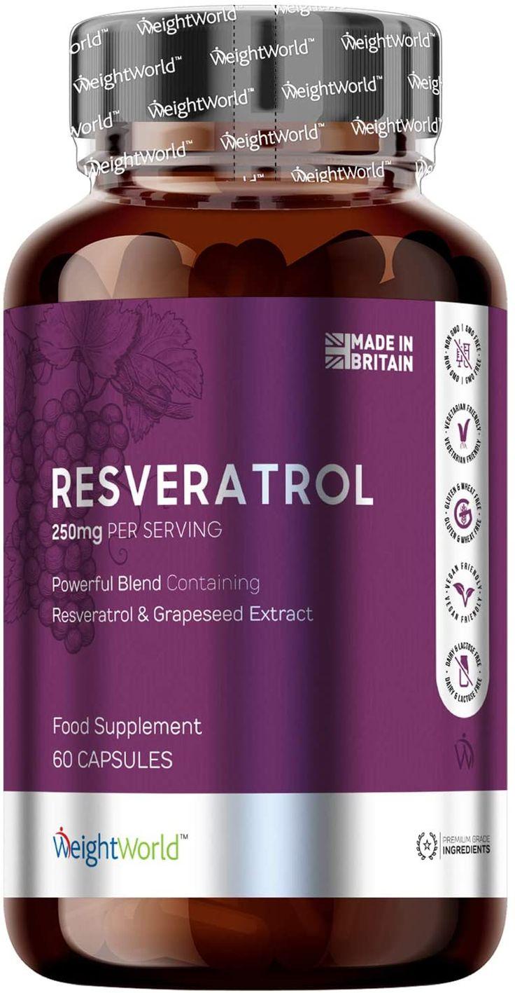 Resveratrol Puro en Capsulas - Suplemento AntiArrugas..