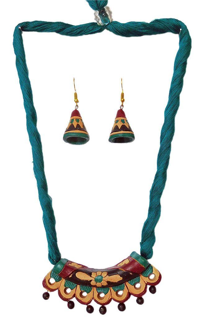 Terracotta Hansuli Pendant
