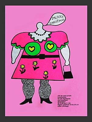 Niki de Saint Phalle exhibition poster, 1968.