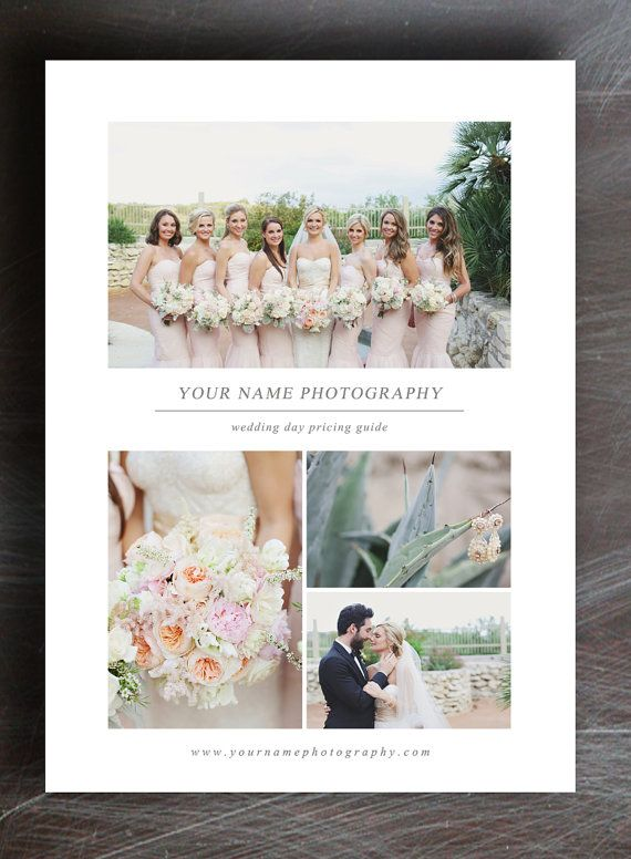 Pricing Guide Template for Wedding Photographers - Instant Download - m0081