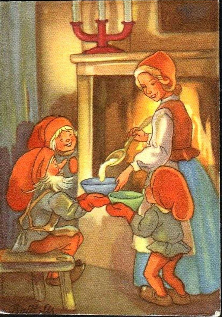 Julkort Brit-Lis Erlandsson 1940-talet