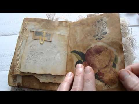 Vintage style junk journal N5 . Custom order.( sold ) - YouTube