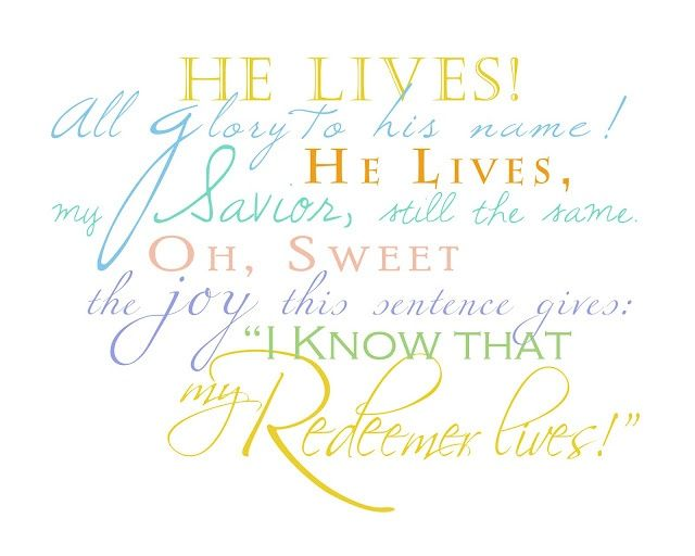 LDS Easter word art - colored | Things that I love but probably ...