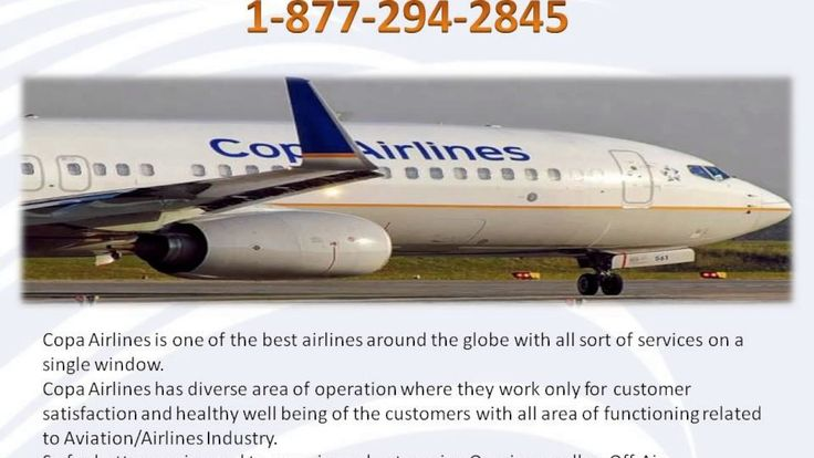 COPA Airlines Reservation Number 1-877-294-2845