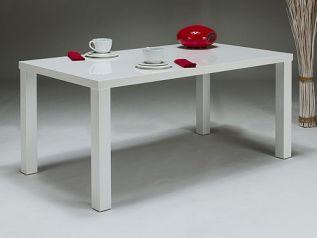 vysoký lesk bílý jídelní stůl 160x90 Lusia