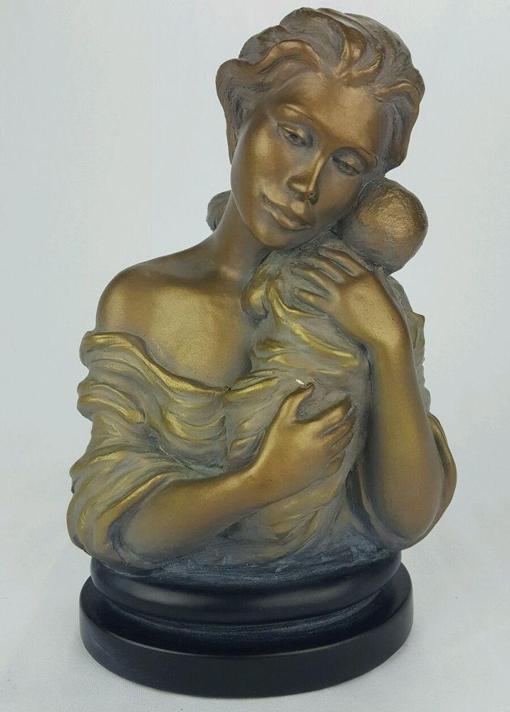 "Austin Sculpture Heaven Sent Bust Statue 9.75"" x 6"" Durastone Bronze and Gray"