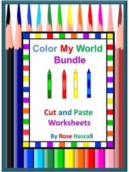 Teaching colors? Need a Unit for teaching colors? If so, this bundle is for you. It contains 7 Color My World products as follows; Color My World  Color My World Red  Color My World Blue  Color My World Yellow  Color My World Green  Color My World Purple  Color My World Orange   WOW!!! That's over 135 pages of fun activities to help your students learn and recognize their colors. AND, you will love the savings at over 20% off!   This product is ready to print and be used immediately.