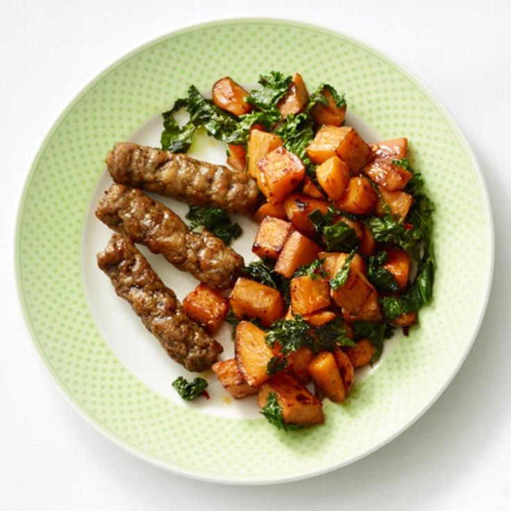 Breakfast idea: home fries with sausage