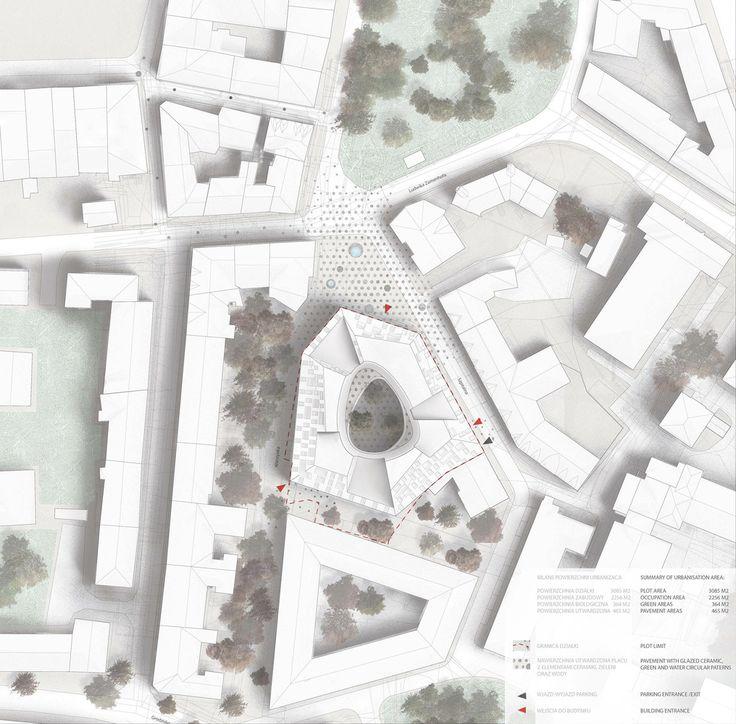 BAKPAK Architects + EovaStudio vencem concurso para edifício multifuncional na Polônia,Planta de cobertura