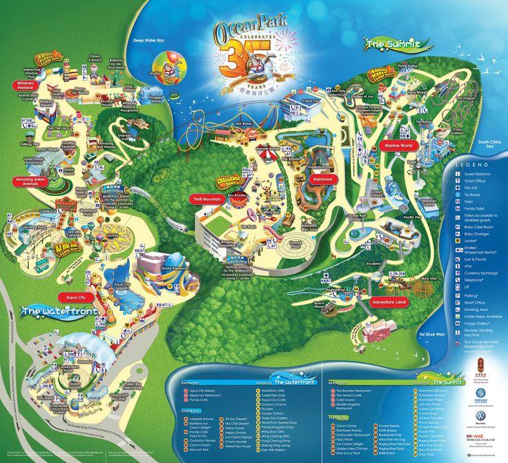 Hong Kong Ocean Park Tourist Map