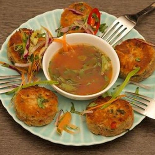 Delicious #LCHF Thai Fish Cakes from What The Fat Book - click through to the blog for the whole recipe as part of #WhatTheFatFriday series.  #WhatTheFatBook #ThaiFishCakes #LCHF #LowCarbHealthyFat #GlutenFree