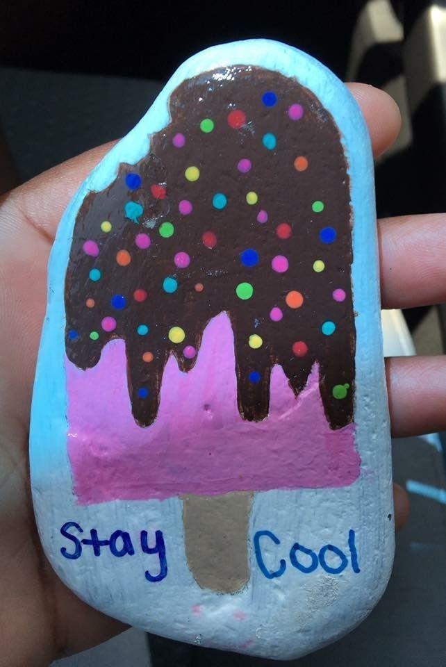 Decorative Rocks : Ice cream pop.