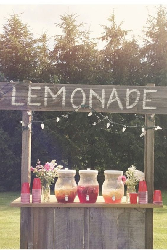 rustic wedding drink bar / http://www.deerpearlflowers.com/wedding-drink-bar-station-ideas/