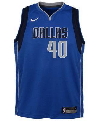 Nike Harrison Barnes Dallas Mavericks Icon Swingman Jersey, Big Boys (8-20) - Blue XL