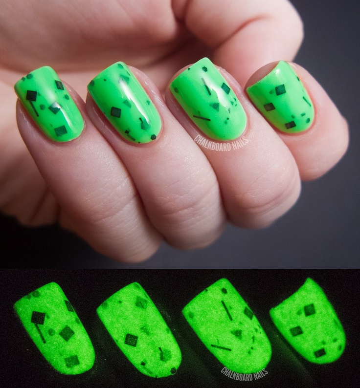 Radioactive - Glow In The Dark Neon Green Nail Polish- 0.5 oz Full Sized Bottle. $8.75, via Etsy.