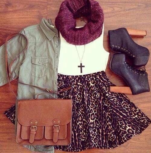 cool, hipster, look, bag, winter, skirt