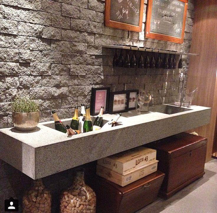 231 best bar adega images on pinterest credenzas wine for Man cave kitchen ideas