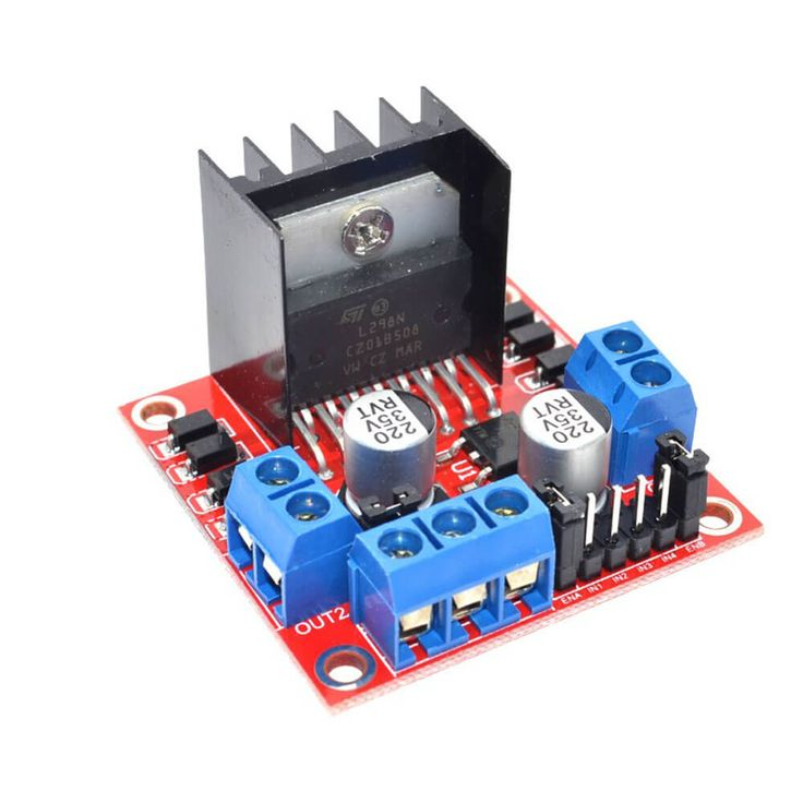 H-bridge Motor Controller L298N. Dedicated motor driver chip to control two DC motors with drive current up to 1.5A (max 2A) Stack design can be plugged directly into microcontroller. SALE PRICE: $5.95