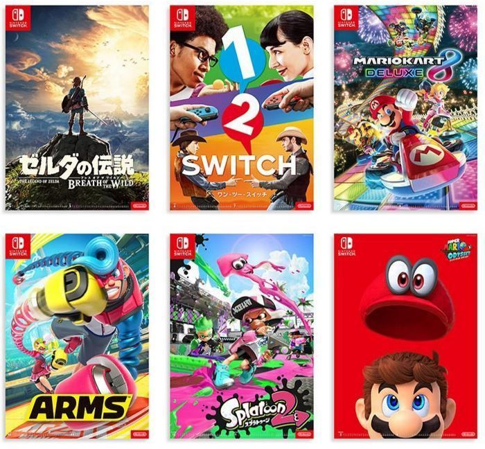Official Poster Calendar My Nintendo Store Limited Edition 6 pieces set Switch