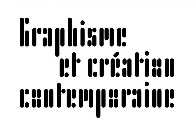 Le motif identitaire de l'exposition - une composition typographique originale DES SIGNES, 2011.