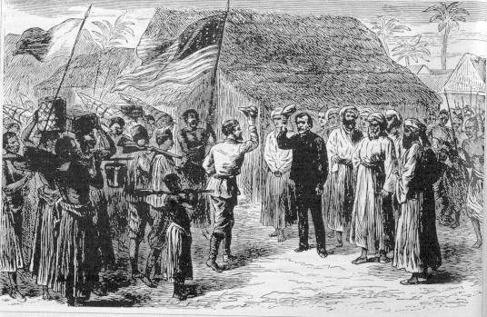 """On November 10, 1871, in Ujiji near Lake Tanganyika in present-day Tanzania, British journalist Henry Morton Stanley found Scottish missionary and explorer David Livingstone and greeted him with the now famous, """"Dr. Livingstone, I presume?"""""""