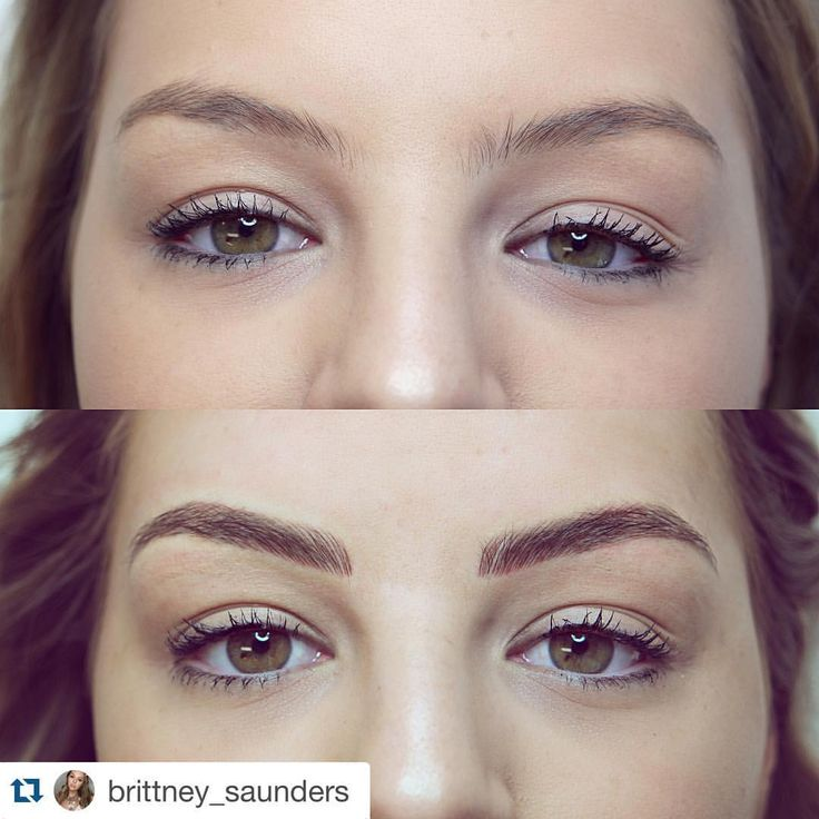 "Sibina-Cosmetic Tattoo Art on Instagram: ""#Repost @brittney_saunders with @repostapp. ・・・ Say hello to my new brows guys! Im in L O V E  Yesterday I had my brows transformed by no other than the lovely @sibinabrowart ! This was done using feather touch technique (tattooing) and Sibina was nice enough and allowed me to vlog some of my experience."