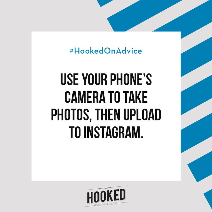 It's a really good habit to get into - take photos with your camera (phone or other) and then upload them to Instagram. You'll end up with a higher quality photo and you can also control the cropping a bit better. Also worth mentioning - use a 3rd party app like @vsco to edit your photos before applying a filter on Instagram, if you even need to use a filter at all! #HookedOnAdvice