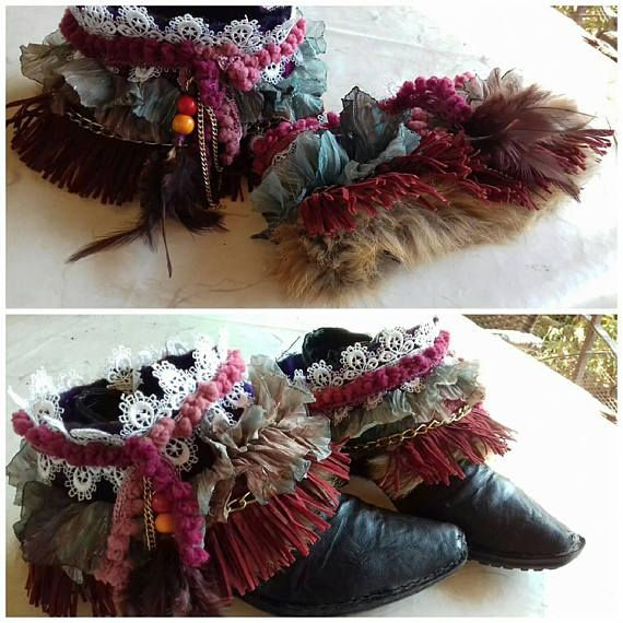 Boho Boot wraps Boot accessories boot cuffs boot bling
