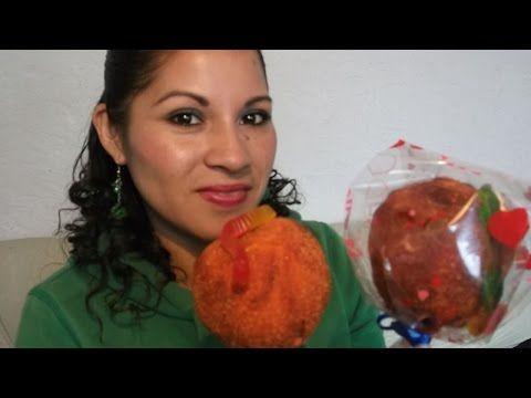Como hacer MANZANAS ENCHAMOYADAS con tamarindo natural - YouTube