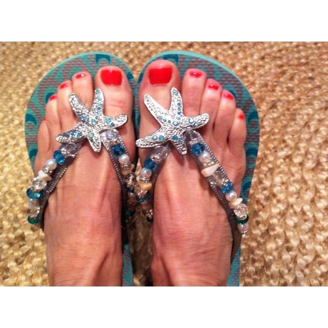 Bling bling flip flops