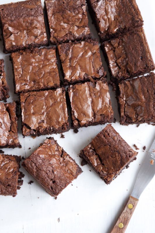 Very Good Chocolate Brownies. Recipe adapted from Nigel Slater