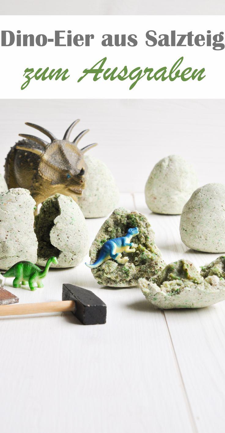 Selbst gemachte Dino-Eier. Zum Ausgraben.